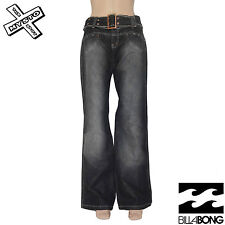 BILLABONG 'VESUVIO' WOMENS JEANS VINTAGE BLACK TROUSERS UK 8 10 12 BNWT RRP £58