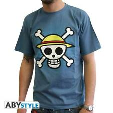 ONE PIECE - Tshirt Skull with map man SS stone blue - basic