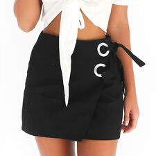 2017 New Womens Ladies Sexy Bodycon Patchwork Bandage Mini Party Skirt Dresses