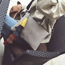 Fashion Lady Handbag Shoulder Women Tassel Bag Tote Purse Dull Polish Messenger