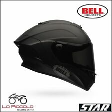 CASCO INTEGRALE BELL STAR SOLID BLACK MATT NERO OPACO  IN FIBRA TAGLIA S