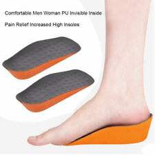 Men Women PU Invisible Heel Lift Taller Shoe Inserts Height Increase Insoles EH