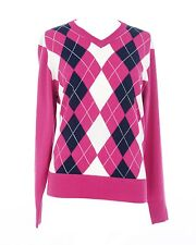 JRB Maglione di GOLF turchese brillante/Fucsia/GIALLO + BLACK DIAMOND S,M,L,
