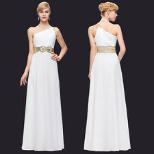 Long Bridesmaid One Shoulder Chiffon Ball Gown Evening Prom Party Wedding Dress