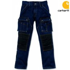Carhartt Herren Men Denim Multi Pocket Tech Jeans Arbeitshose Bundhose Work Wear