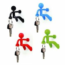 New Magnetic Key Holder with Wall Climbing Man Ultra Strong Hook Keys Magnet UK