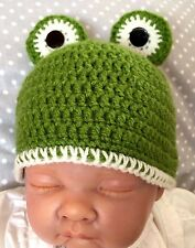 ***Made To Order Baby Boy Girl Frog Crochet Hat***