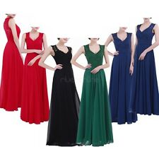 Womens Chiffon Party Cocktail Prom Lace Ballgown Bridesmaid Formal Long Dresses