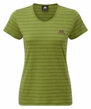 Mountain Equipment Groundup Women's Stripe Tee, Damen-Funktionsshirt, Kiwi