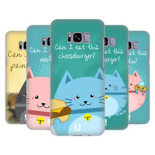 HEAD CASE DESIGNS CURIOUS CATS HARD BACK CASE FOR SAMSUNG GALAXY S8+ S8 PLUS