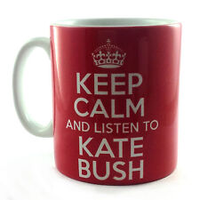 KEEP CALM AND LISTEN TO KATE BUSH MUG CARRY À FAIBLE TEMPÉRATURE BRITANNIA RÉTRO
