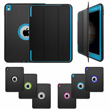Hard Rubber Heavy Duty Shockproof Full Body Protective Smart Case Cover For iPad
