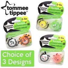 Tommee Tippee Fun Style Soothers 0-6 months Boys/Girls - CHOICE OF DESIGN (A12)