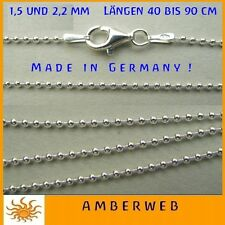 Cadena de plata cadena bolas plata esterlina 925 Collar Made in Germany SUPERIOR