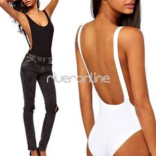 Sexy Womens Sleeveless Stretch Leotard Tops Lingerie Bodysuit Jumpsuit Backless