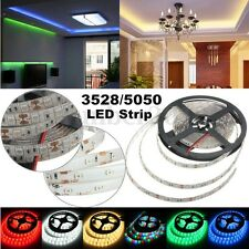 1M 2M 3M 4M 5M RGB 3528 5050 SMD 60-300 LED Flexible Luz Tira Impermeable DC 12V