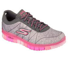 NEU SKECHERS Damen Fitness Sneakers Turnschuh Walking Sport GO FLEX ABILITY Grau