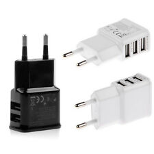 EUROPEO Dual USB 2 pins Adaptador de corriente alterna UE Enchufe Pared Cargador