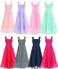 Girls Princess Flower Wedding Bridesmaid Pageant Bridesmaid Formal Dresses Kid