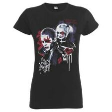 UFFICIALE DONNA ANTRACITE DC SUICIDE SQUAD HARLEY Puddin T-shirt ADERENTE