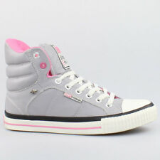 BK BRITISH KNIGHTS SCHUHE ATOLL LIGHT GREY PINK GRAU LEDER B34-3704-08 ROCO