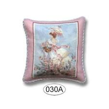 MINIATURE DOLLHOUSE 1:12 SCALE LADY IN PINK #1 PILLOW - PIL030A