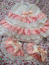DREAM BABY GIRLS PINK GINGHAM KNICKERS & SOCKS SET NB TO 24 MONTHS OR REBORN