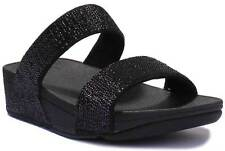 Fitflop Electra Micro Slide Black Women Synthetic Sandals