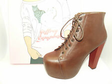 STUNNING LADIES JEFFREY CAMPBELL LITA TAN LEATHER SHOE BOOTS HEELS SZ 3 - 8
