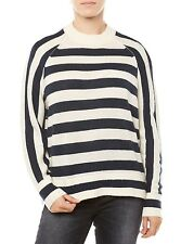 NEU TOMMY HILFIGER SWEATER DAMEN THDW BASIC STRIPE SWEATER L/S DUNKELBLAU/WEISS