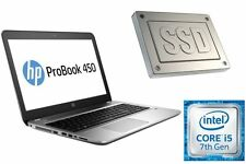 "HP PROBOOK 450 G4 - CORE i5-7200U - SSD + HDD - 15.6"" MATT - BIS 32GB DDR4-RAM"