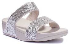 Fitflop ELECTRA MICRO SLIDE Silver Women Synthetic Sandals