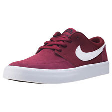 Kids Nike SB Portmore Ii Gs Suede & Synthetic Red Shoes Trainers Casual BNIB