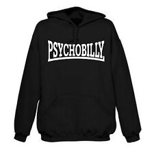 """PSYCHOBILLY"" Sudadera Con Capucha, Rockabilly, Rock 'n' Roll, Punk,"