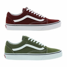 Vans Old Skool Mens Classic Green Red Skate Trainers Shoes Size UK 7-12