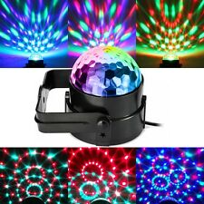 Sound Activated Disco Party DJ Decor Ball Stage Light Club RGB LED Light Lamp