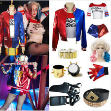 Suicide Squad Harley Quinn Clown Female Cosplay Costume Jacket Shirt Pant Glove