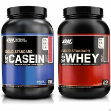 Optimum Nutrition 100% Gold Standard Whey Proteína 908g + On Caseína 896g