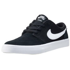 Kids Nike SB Portmore Ii Gs Suede & Synthetic Black Shoes Trainers Casual BNIB