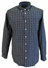 Farah Green Tea Checked Long Sleeved Cotton Retro Mod Button Down Shirts