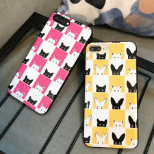 Shockproof Cartoon grid cute Animal Soft Phone Case Cover For iPhone 6 6s 7 Plus