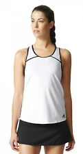 adidas Performance Donna Tennis Allenamento Canottiera Club NERO BIANCO