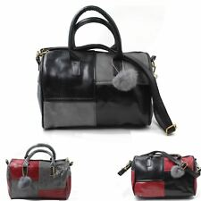 Ladies Leather Shoulder Bag Tote Messenger Crossbody Hobo Women Handbag Checked