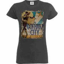 Official Ladies Justice League Bombshell Batgirl Gotham City Airlines T-Shirt