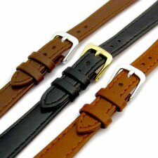 Comfortable Flexible Leather Watch Strap Band Buffalo grain 8mm - 14mm