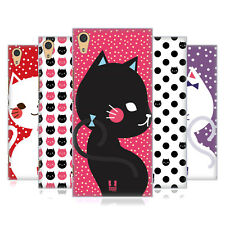 HEAD CASE DESIGNS CATS AND DOTS HARD BACK CASE FOR SONY XPERIA XA1 ULTRA / DUAL