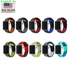 Replacement Silicone Sport Bracelet Strap For Apple Watch Bands Series 3 / 2 / 1