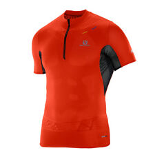 Salomon S-Lab Exo Zip Tee M Racing Red Black Herren Laufshirt Rot Schwarz