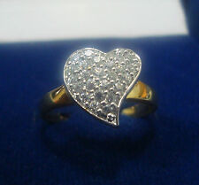 NEW ONE GRAM GOLD PLATED FINGER RING CUBIC ZIRCONIA AMERICAN DIAMOND F464