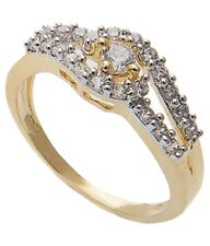 NEW ONE GRAM GOLD PLATED FINGER RING CUBIC ZIRCONIA AMERICAN DIAMOND F448